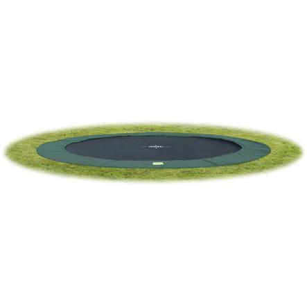 EXIT trampolina naziemna W Terra GroundLevel 305 (10 Ft) zielony + siatka bezpieczeństwa