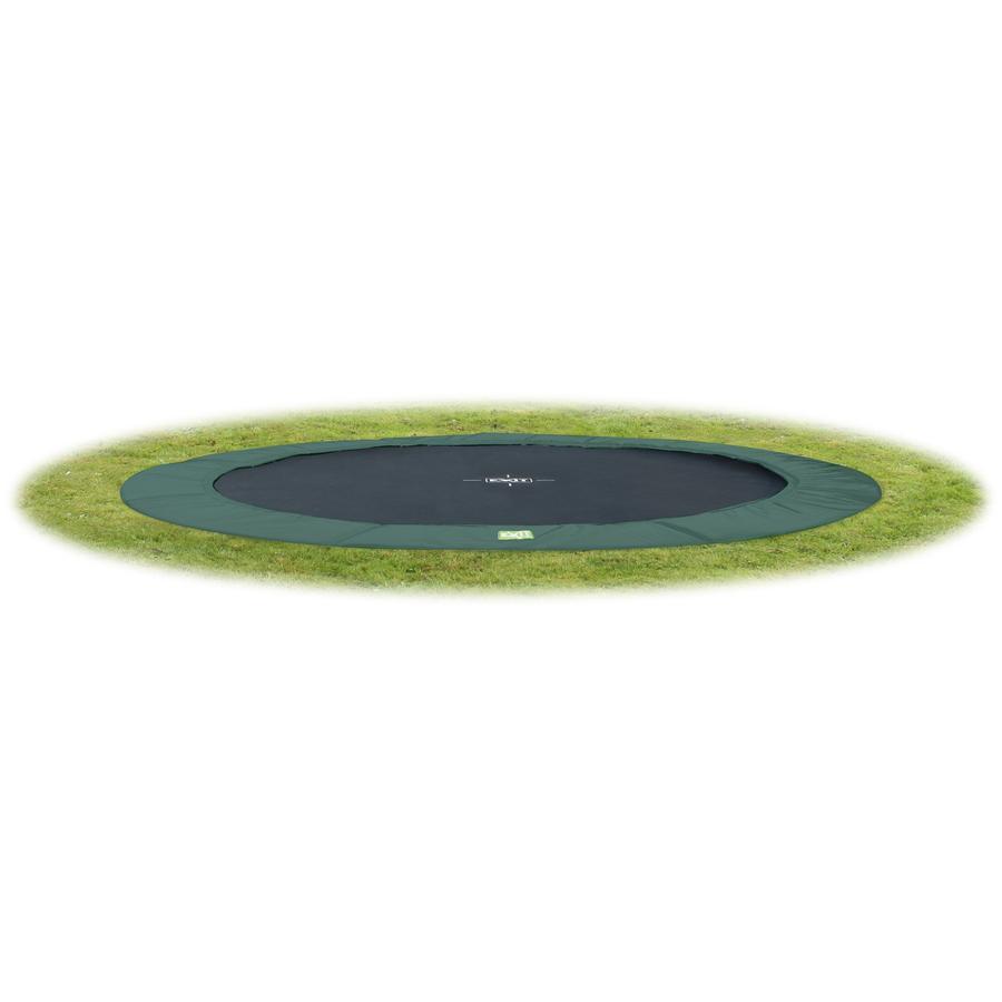 EXIT trampolina naziemna W Terra GroundLevel 366 (12 Ft) zielony + siatka bezpieczeństwa