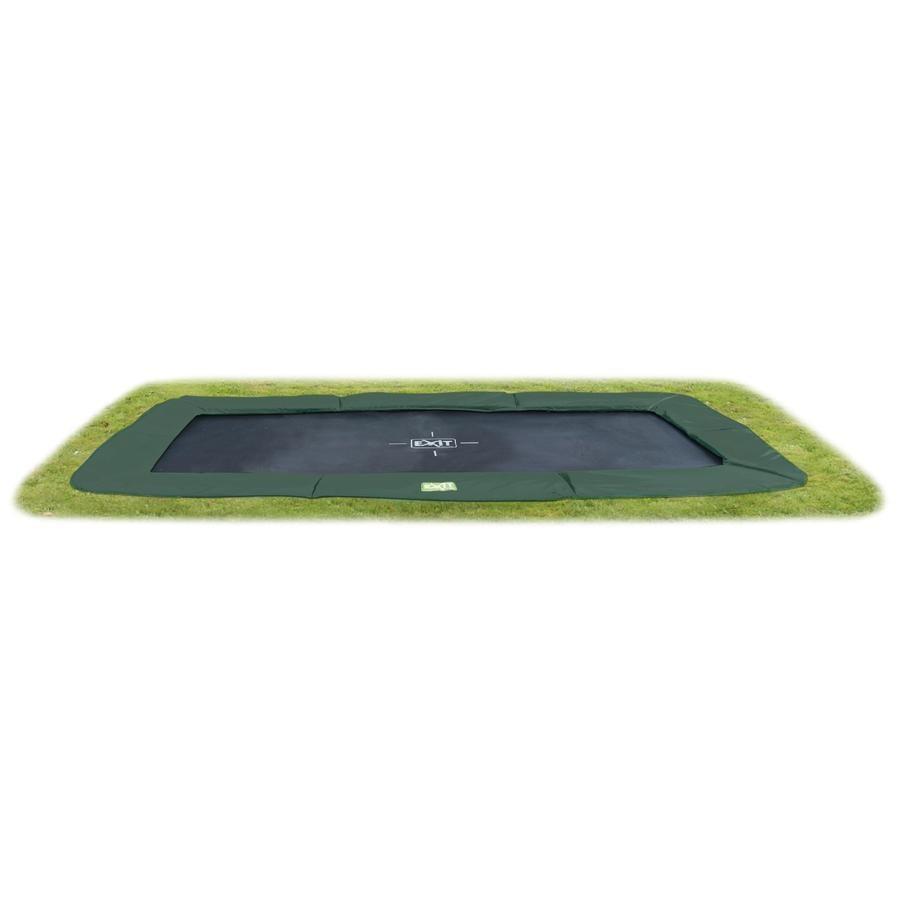 EXIT přízemní trampolína InTerra přízemí 214x366cm (7x12 Ft) zelená + bezpečnostní síť
