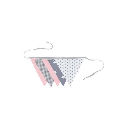 Ullenboom Pennant Chain &   Garland 190 cm (5 vimpler) rosa grå