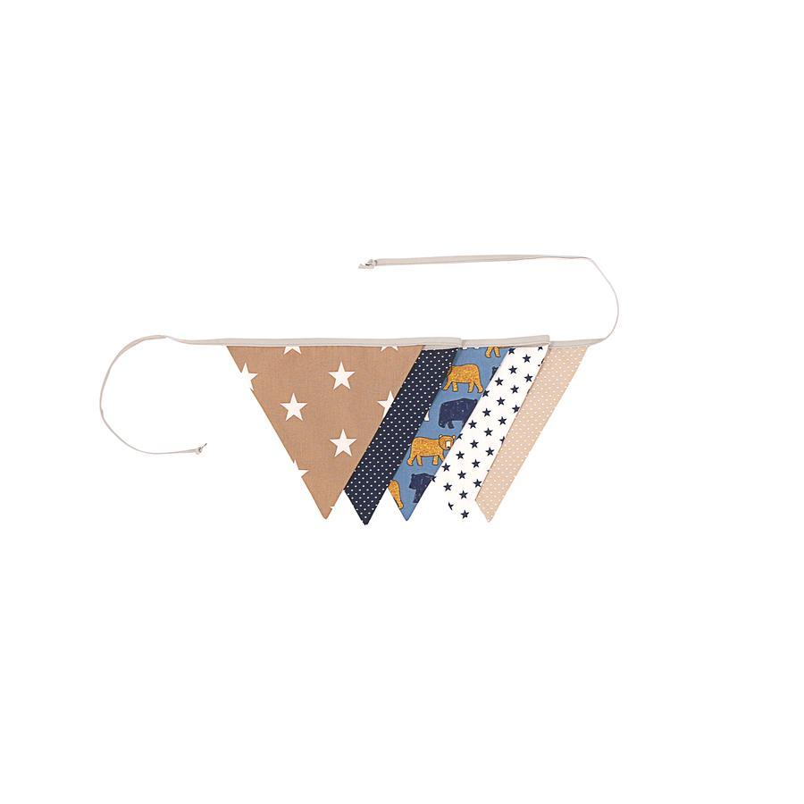 Ullenboom Cadena de banderín y tela y girl 190 cm (5 banderines) Oso de arena