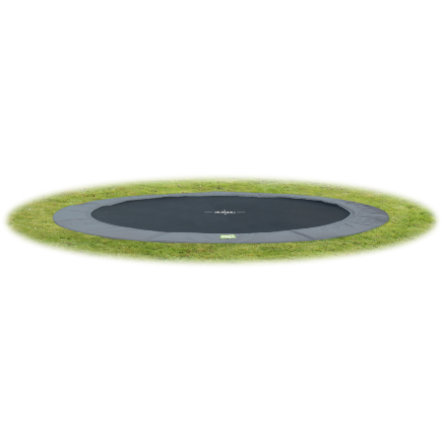 EXIT trampolina naziemna W Terra GroundLevel 366 (12 Ft) szary + siatka bezpieczeństwa
