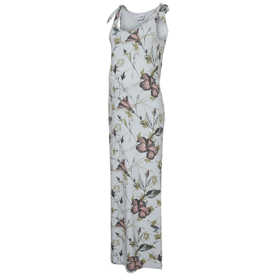 mama;licious Těhotenské šaty MLSADIE gray dawn flower