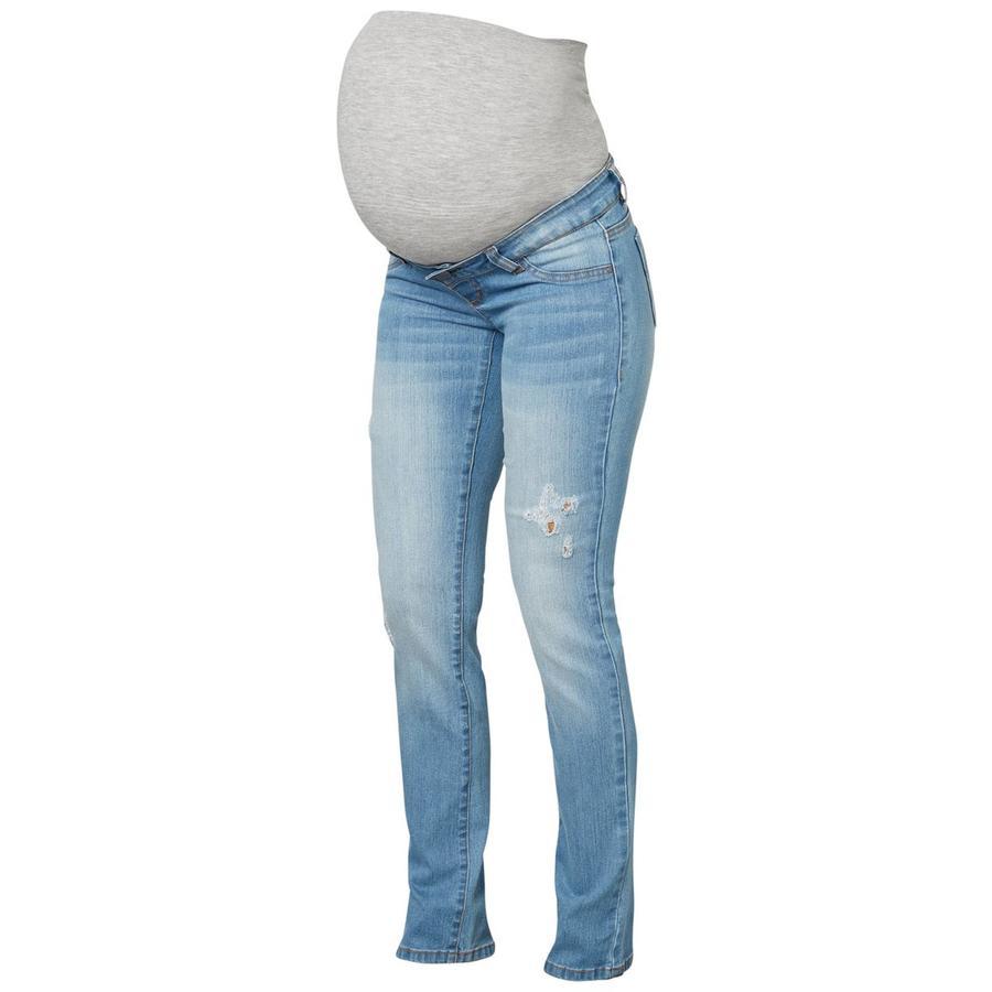 mama licious Spodnie ciążowe MLJULIA light blue denim