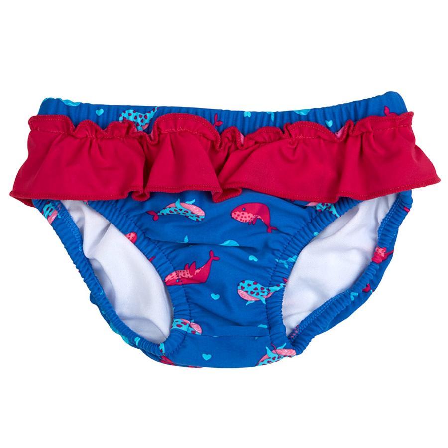 DIMO-TEX Pantalones de baño de pañal Whale Blue