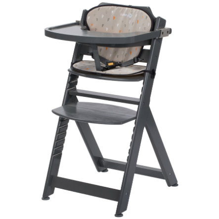 Safety 1st Chaise haute bébé Timba, inclus coussin d'assise warm grey