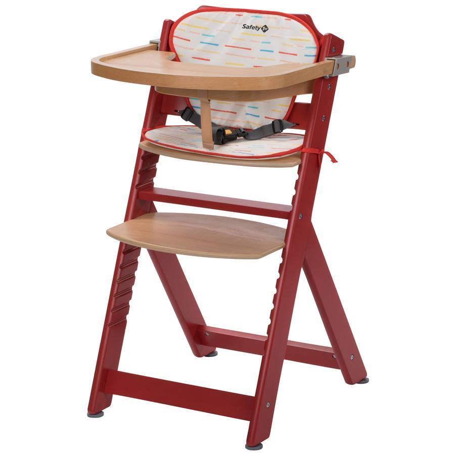 Bezpečnost 1. vysoká židle Timba se sedákem Red Rasberry