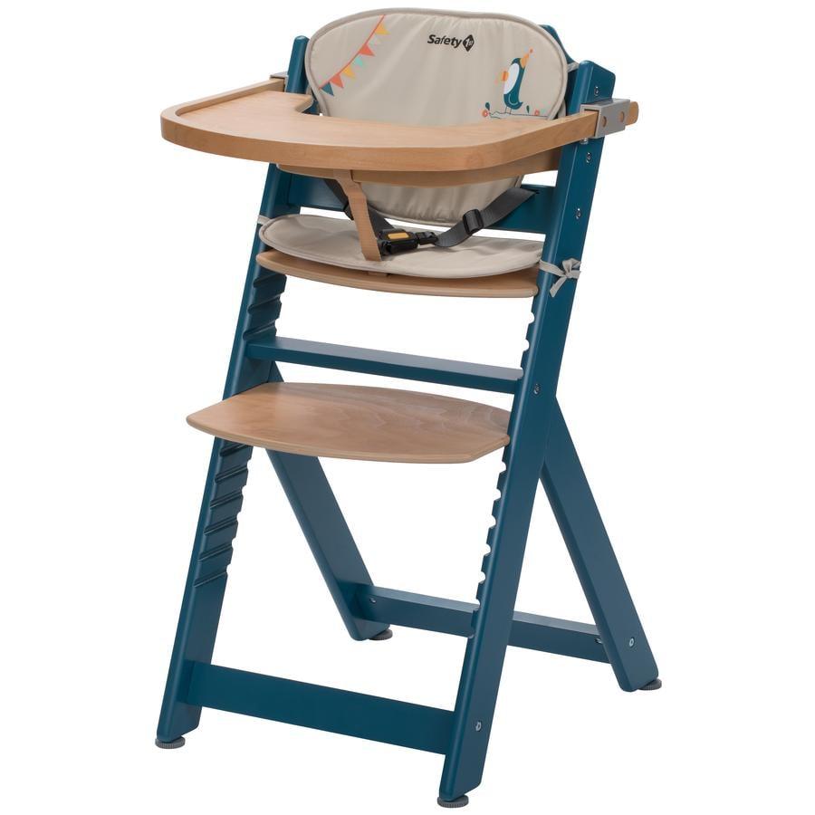 Safety 1st Chaise haute bébé Timba, inclus coussin d'assise bleu pétrole