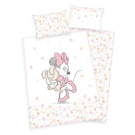 HERDING Parure de lit enfant Minnie fleurs 100x135 cm