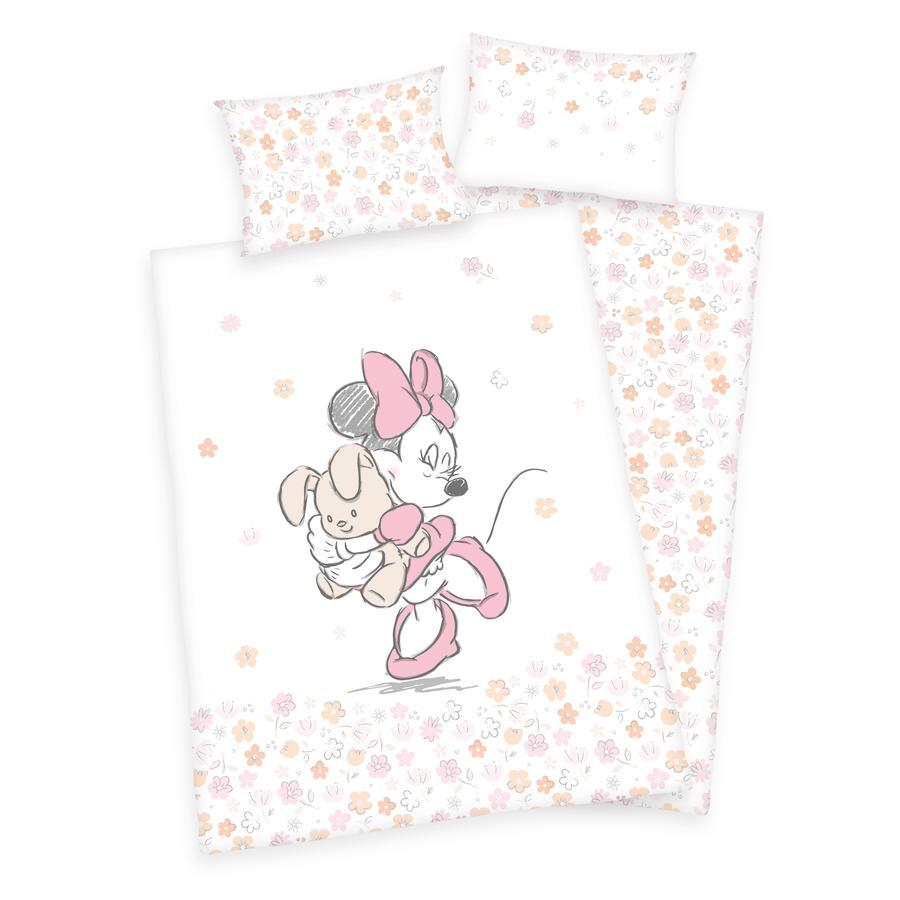 HERDING Pościel Minnie Mouse Flower 100 x 135 cm