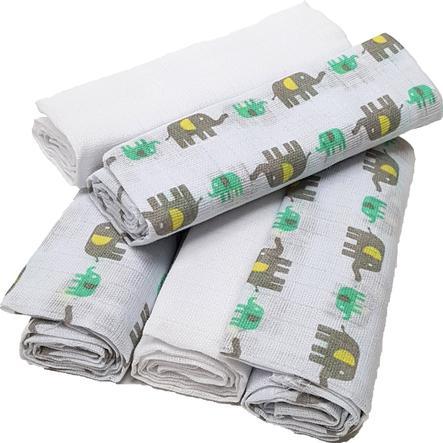HÜTTE & CO garza panni elefante 5er-Pack grigio-verde