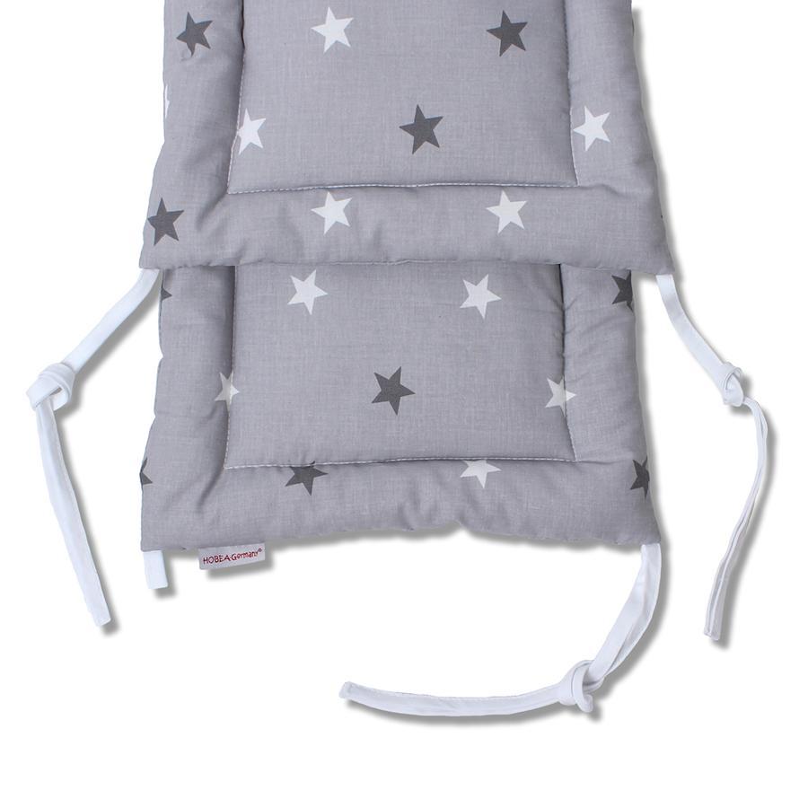 HOBEA Tour de lit enfant étoiles gris 200x30 cm