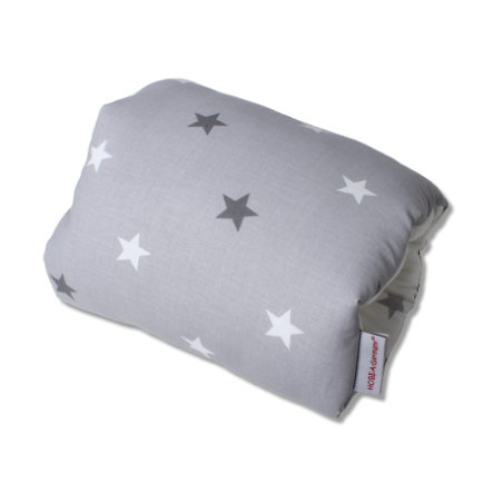 HOBEA-Germany Mini Stillkissen Sterne weiß-grau