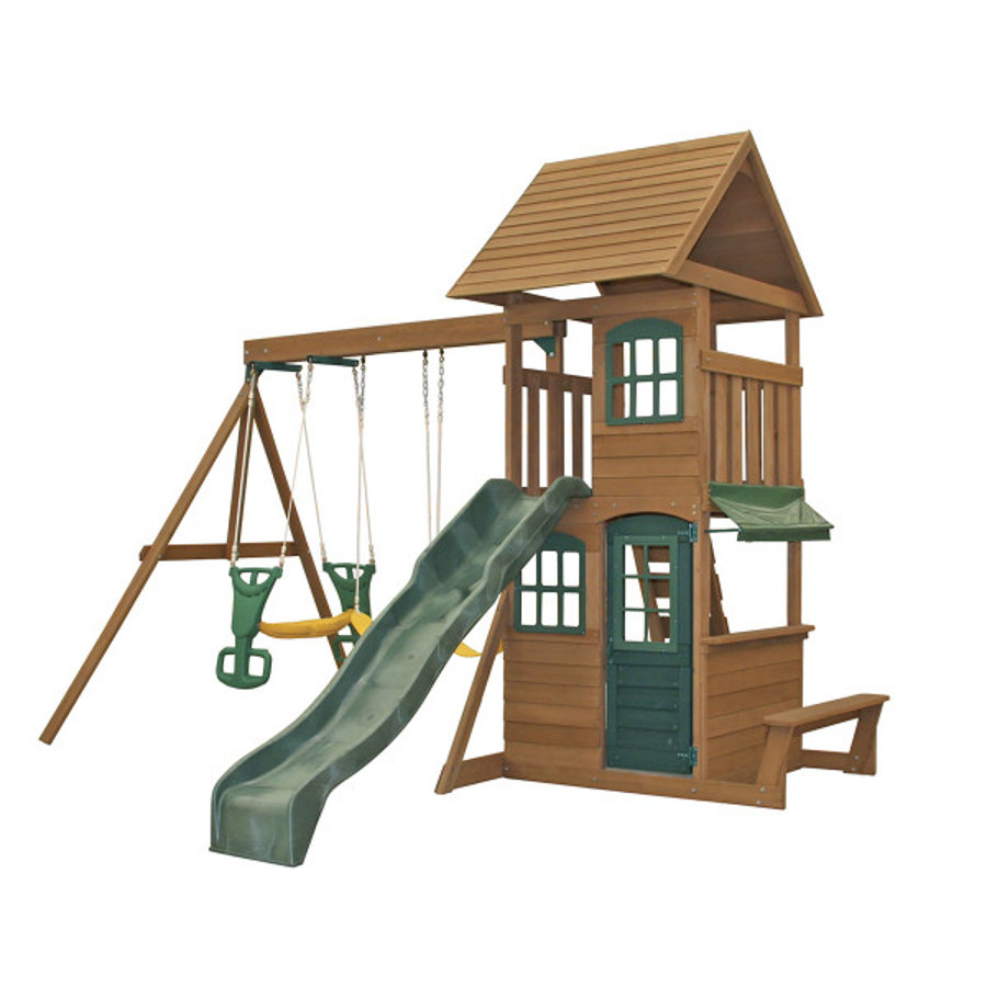 KidKraft® Aire de jeu et grimpe enfant Windale bois F26405E