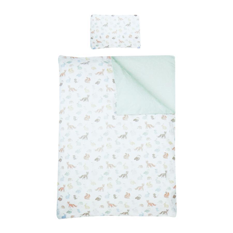 LITTLE  Renforce Biancheria da letto animali della foresta 3 pezzi 100x135 cm