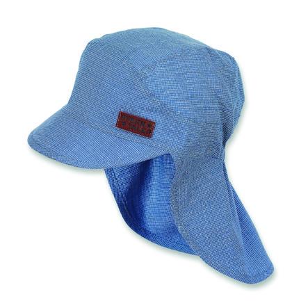 Sterntaler Cappello a visiera ragazzi con protezione per il collo blu ghiaccio