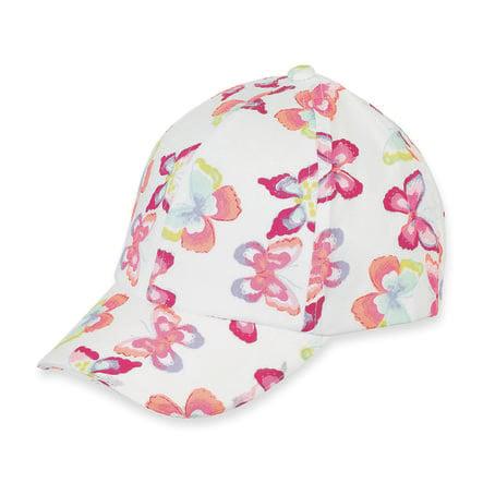 Sterntaler Girl s baseball cap biały