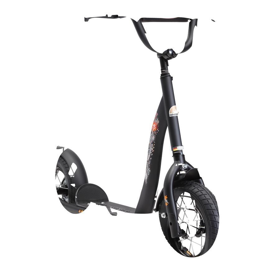 """bikestar® Trottinette enfant premium 10"""" diable noir mat"""