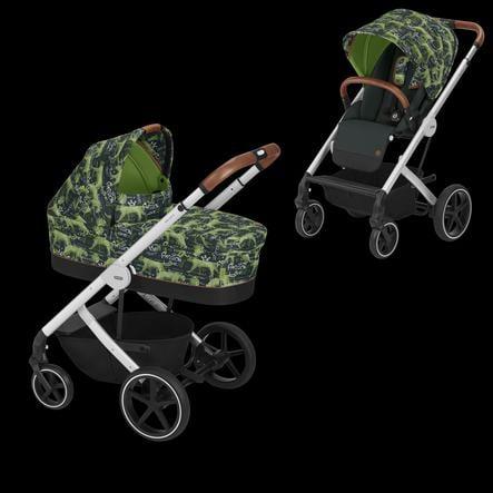 cybex GOLD Kinderwagen Balios S und Kinderwagenaufsatz Cot S Respect Green-grün