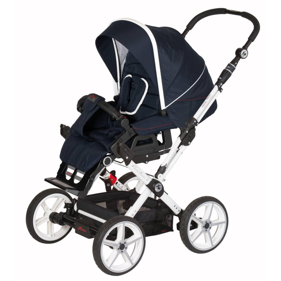 hartan kinderwagen topline x mit handbremse navy stripe. Black Bedroom Furniture Sets. Home Design Ideas