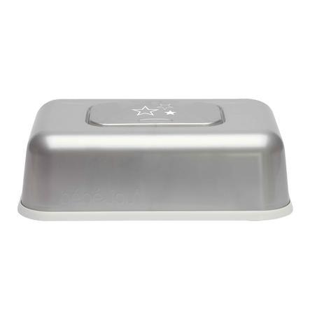 bébé-jou® Feuchttücherbox Design: Silver Stars in silber