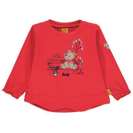 Steiff Girls Košile s dlouhým rukávem, červená