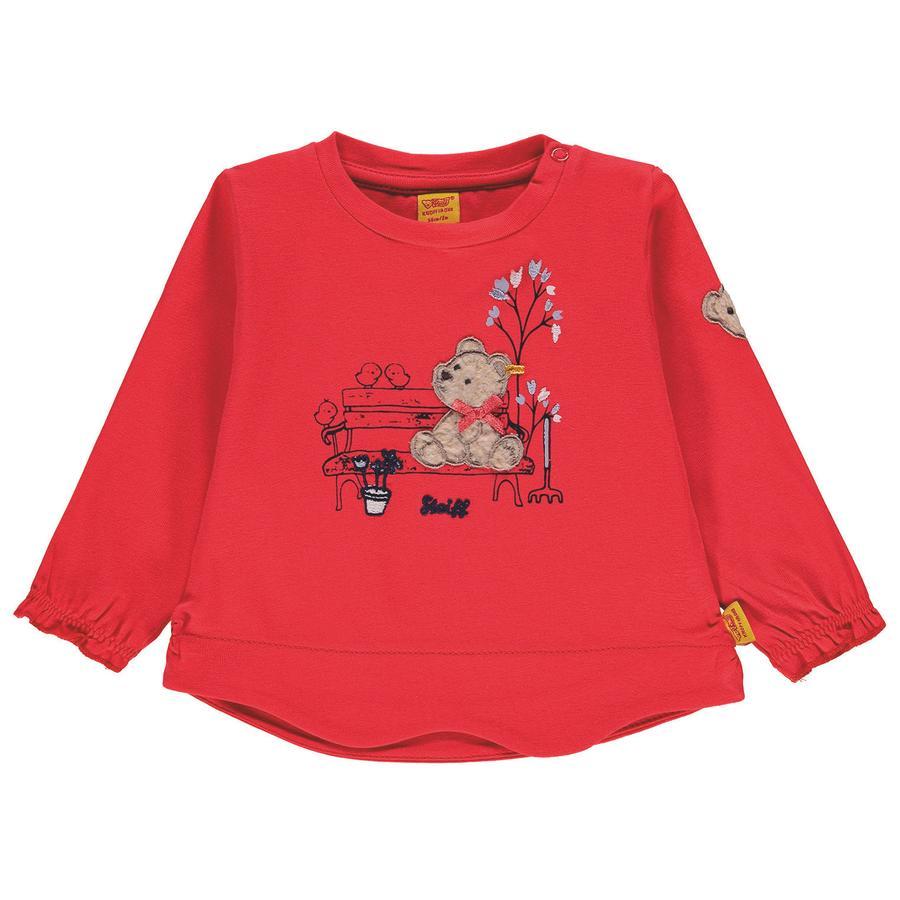 Steiff Girls Langermet skjorte, rød