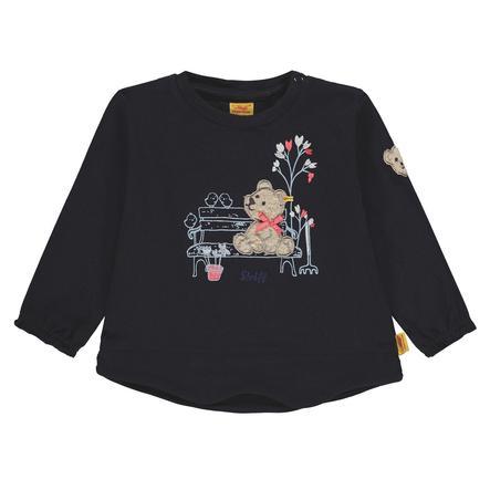 Steiff Girls tričko s dlouhým rukávem, marine