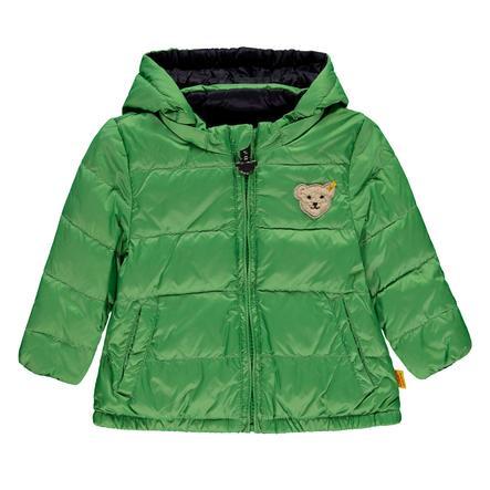Steiff Boys Anorak reversible, verde