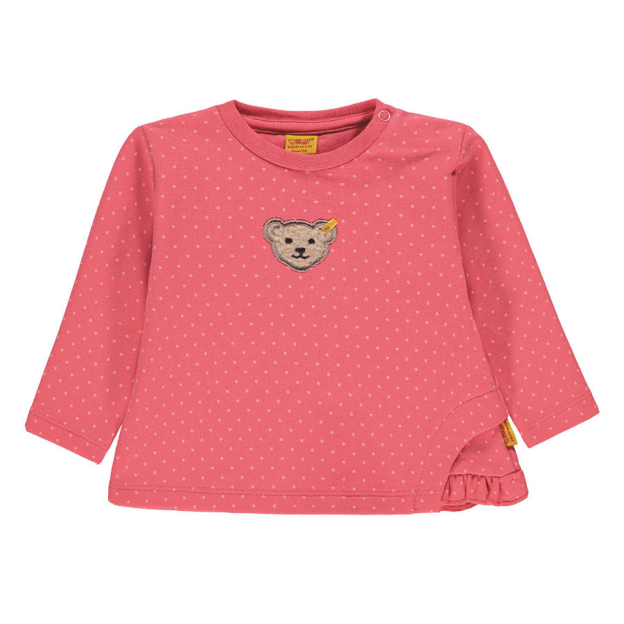 Steiff Girl s Sweatshirt, rose à pois