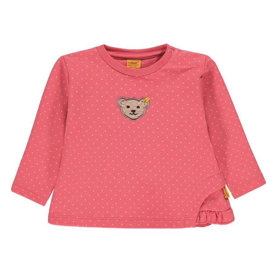 Steiff Girls Sweatshirt, pink med prikker