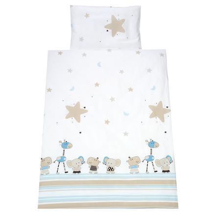 Schardt 2-parto ropa de cama 100 x 135 cm Banjo azul