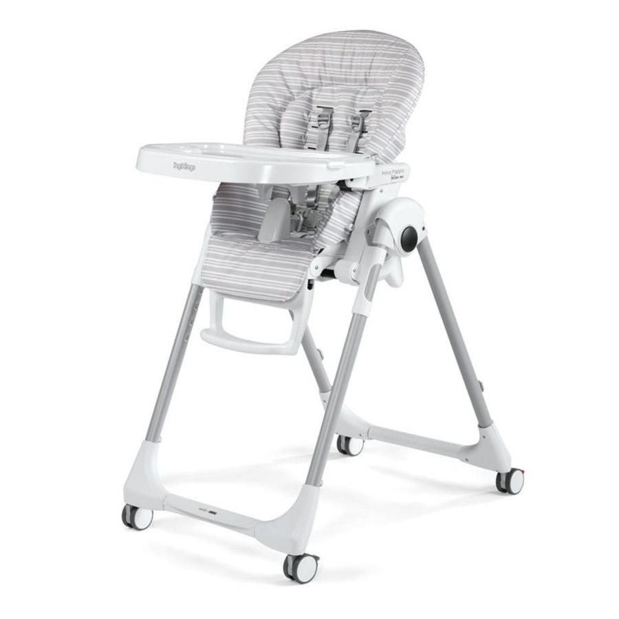 PEG-PEREGO Jídelní židlička Prima Pappa Follow Me Linear Grey