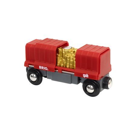 BRIO® WORLD Godsvagn med guldlast 33938