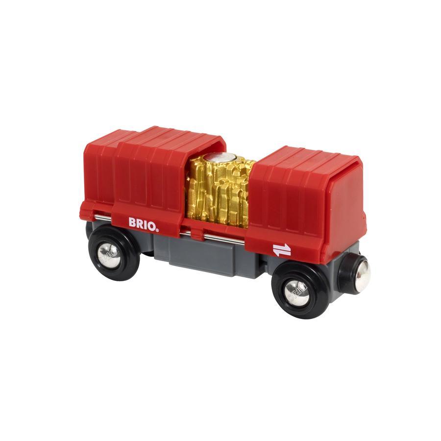 BRIO® WORLD Figurine wagon conteneur d'or 33938