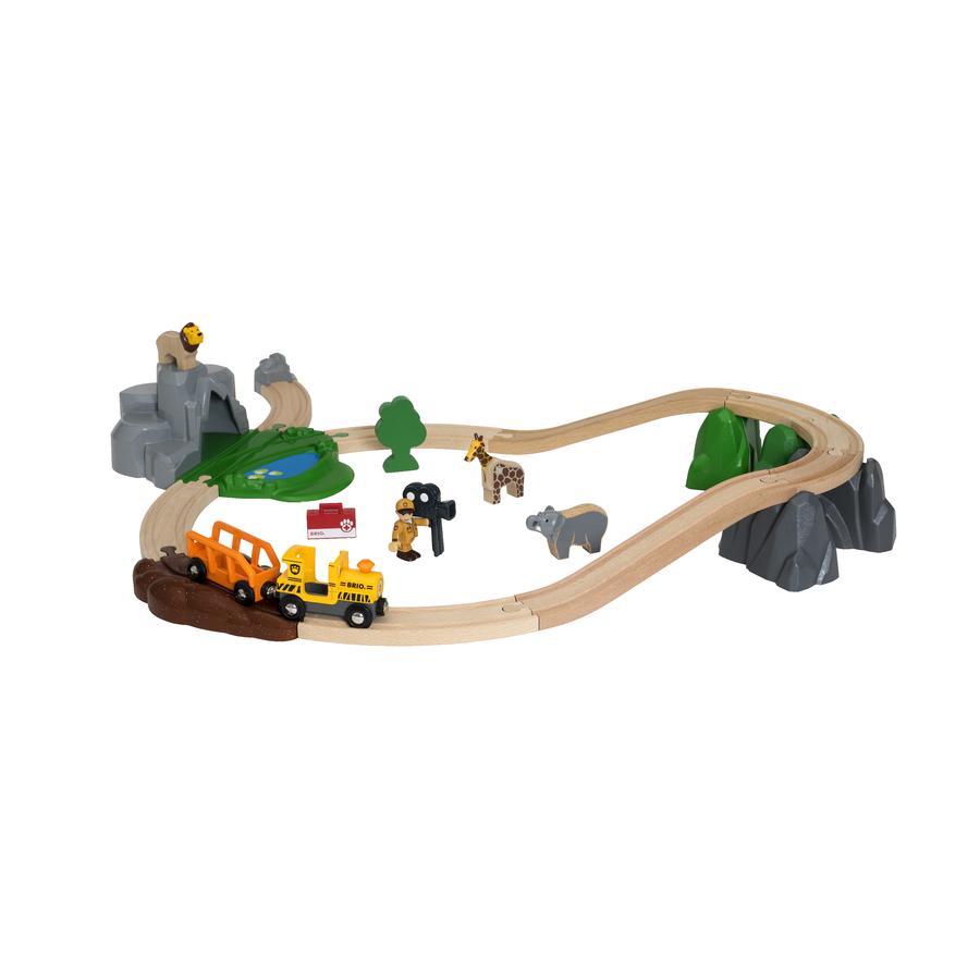 BRIO® WORLD Großes BRIO Bahn Safari Set