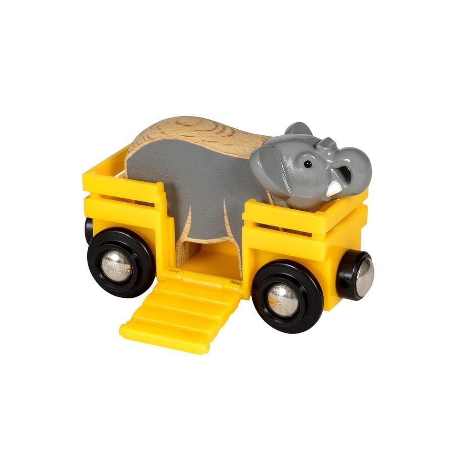 BRIO® WORLD Wagon ze słoniem