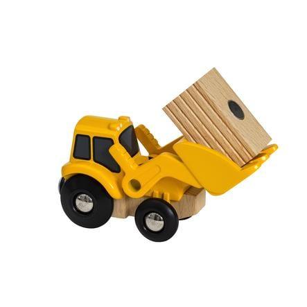BRIO® WORLD Pelleteuse enfant, charge magnétique bois jaune