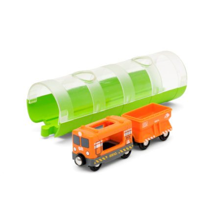 BRIO® WORLD Tunnel Box Frachtzug