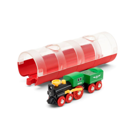 BRIO® WORLD Locomotiva a vapore e Tunnel Box