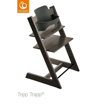STOKKE® Tripp Trapp® Hochstuhl inkl. Baby Set Buche Hazy Grey