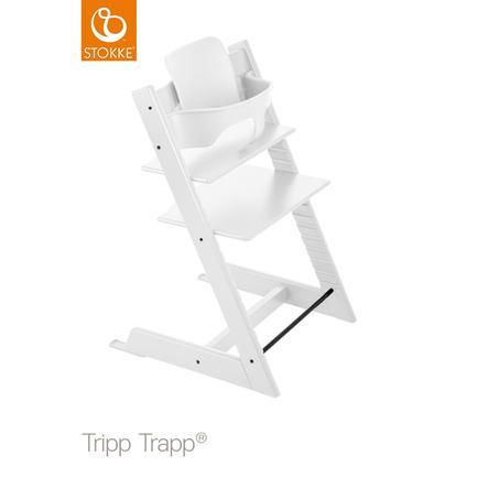 STOKKE® Tripp Trapp® Hochstuhl Buche weiß inkl. Baby Set weiß