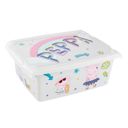keeeper Caja decorativa 10l con tapa Pepa Pig transparente