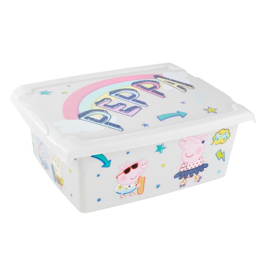 keeeper Panier rangement jouets Peppa Wutz transparente 10l