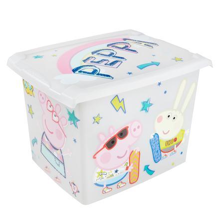 keeeper Deko-Box 20,5l  mit Deckel Peppa Wutz transparent