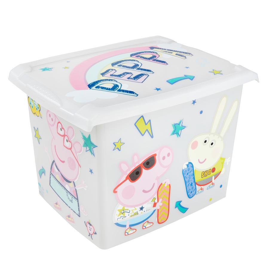 keeeper Deko-Box 20,5 l s víkem, prasátko Peppa, průhledné