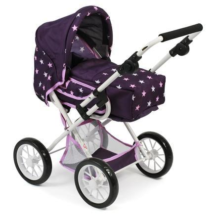 BAYER CHIC 2000 Combi Doll Car LENI Stars purpurowy