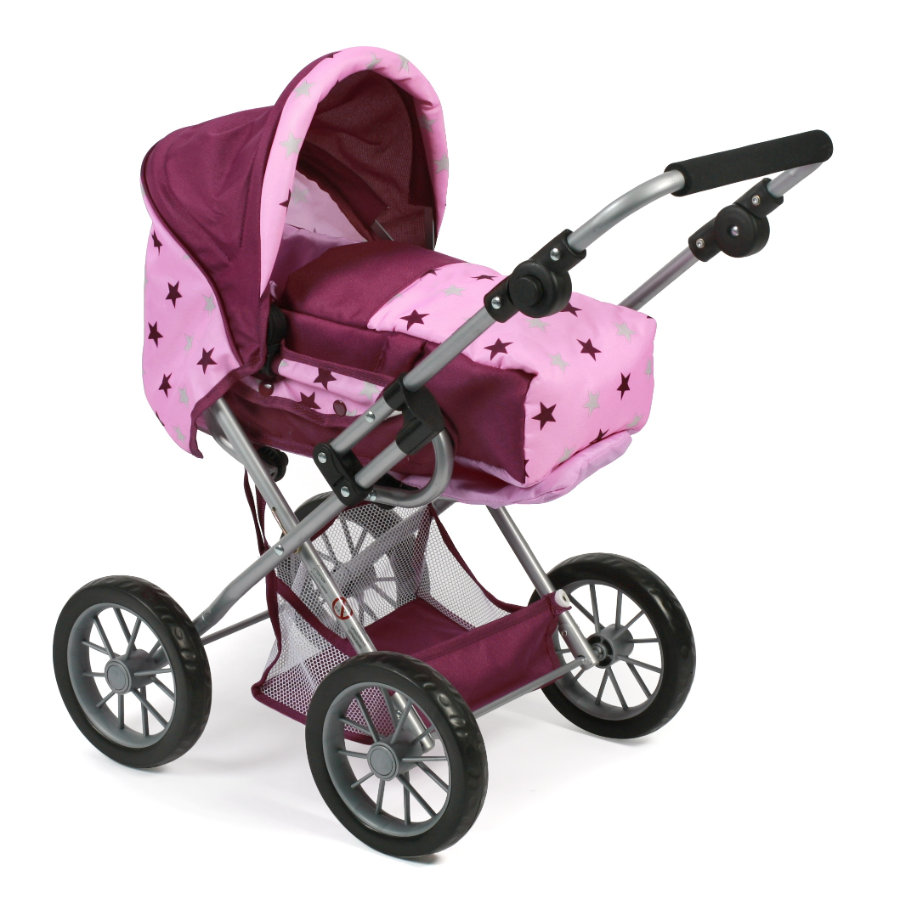 BAYER CHIC 2000 Combi Doll carriage LENI Stars Blackberry