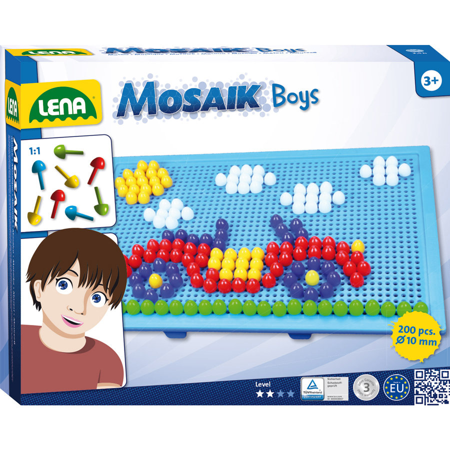 LENA® Mosaic Set Color Boys, groß