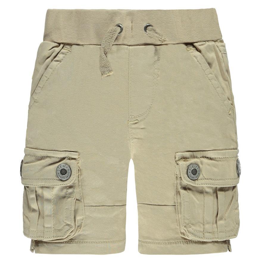Steiff Boys Spodnie Bermudy oxford beige